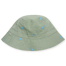 Buy John Lewis Baby Dino Bucket Hat, Green Online at johnlewis.com
