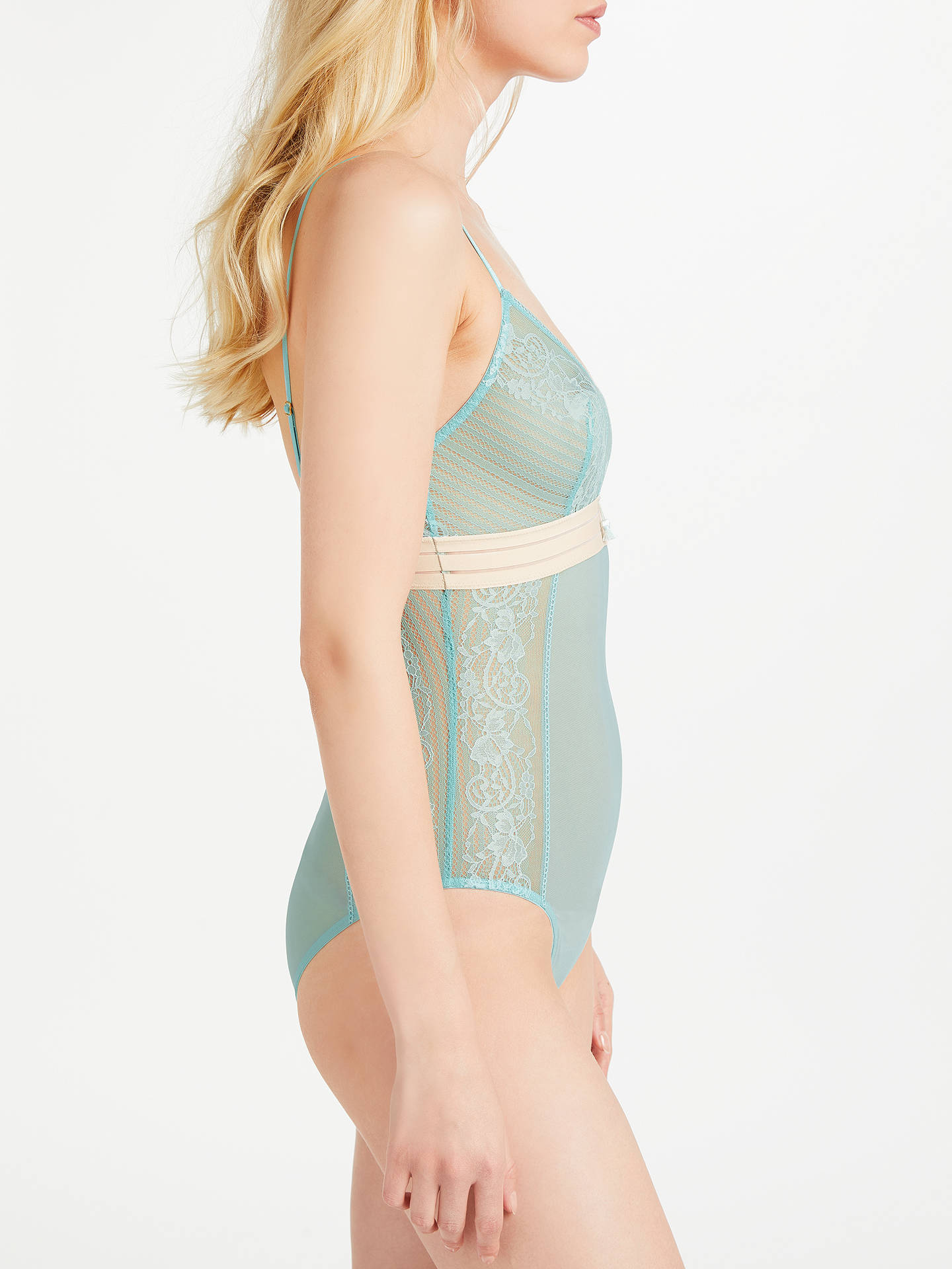 Buy AND/OR Orla Lace Body, Aqua Haze, S Online at johnlewis.com