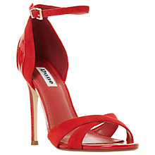 Buy Dune Marcy Stiletto Heeled Sandals, Red Suede Online at johnlewis.com