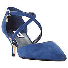 Buy Dune Courtnee Cross Strap Kitten Heel Court Shoes Online at johnlewis.com