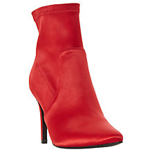 Buy Dune Ormand Stiletto Heeled Ankle Boots, Red Online at johnlewis.com