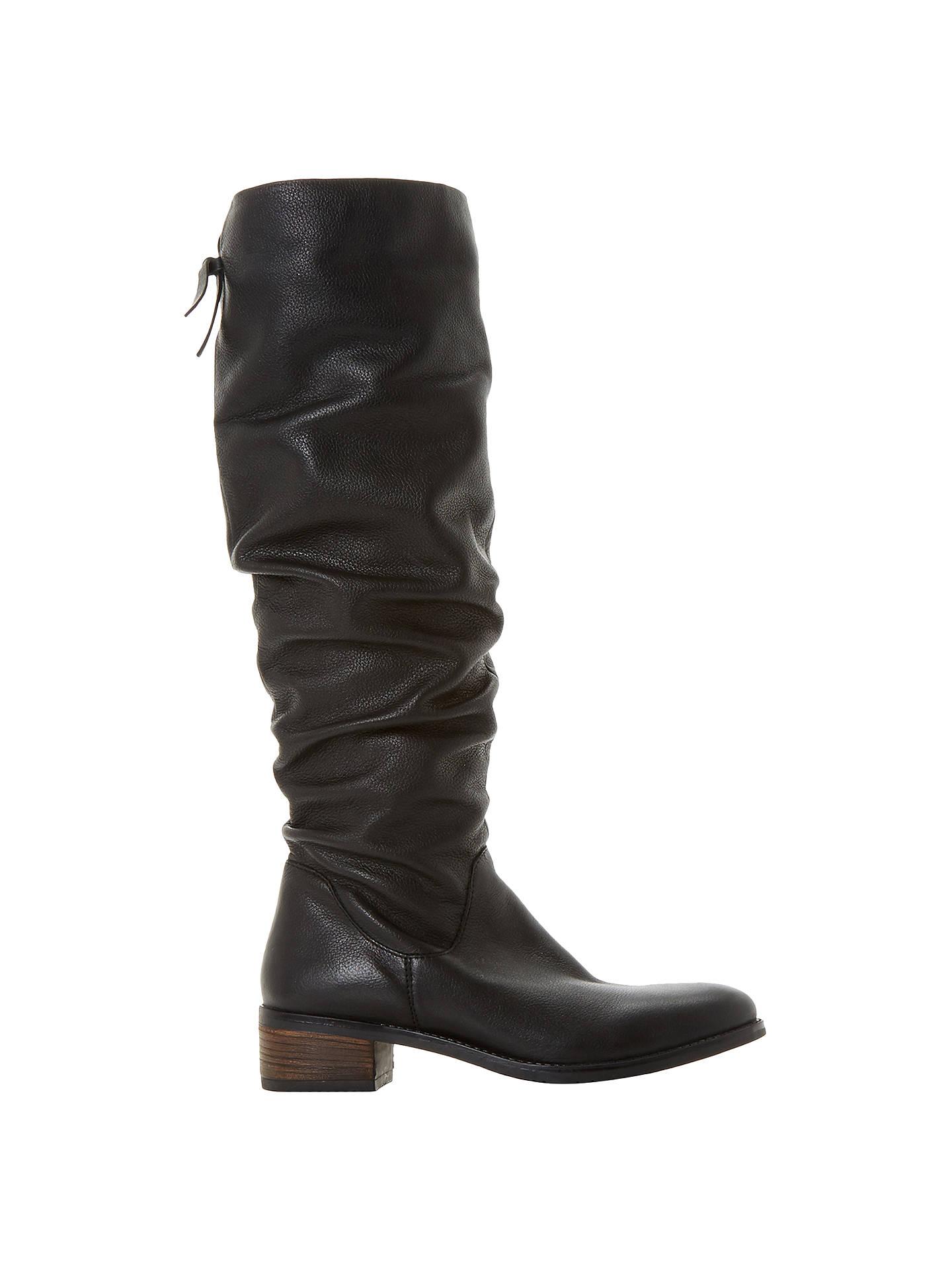 18b67fe2e45 Dune Tabatha Knee High Slouch Boots at John Lewis & Partners