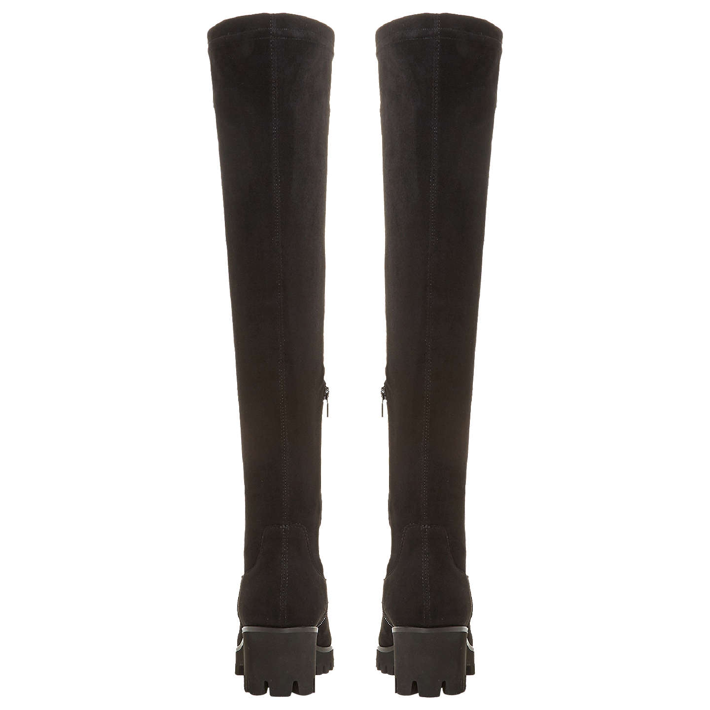 BuyDune Valero Over the Knee Boots, Black Suede, 3 Online at johnlewis.com