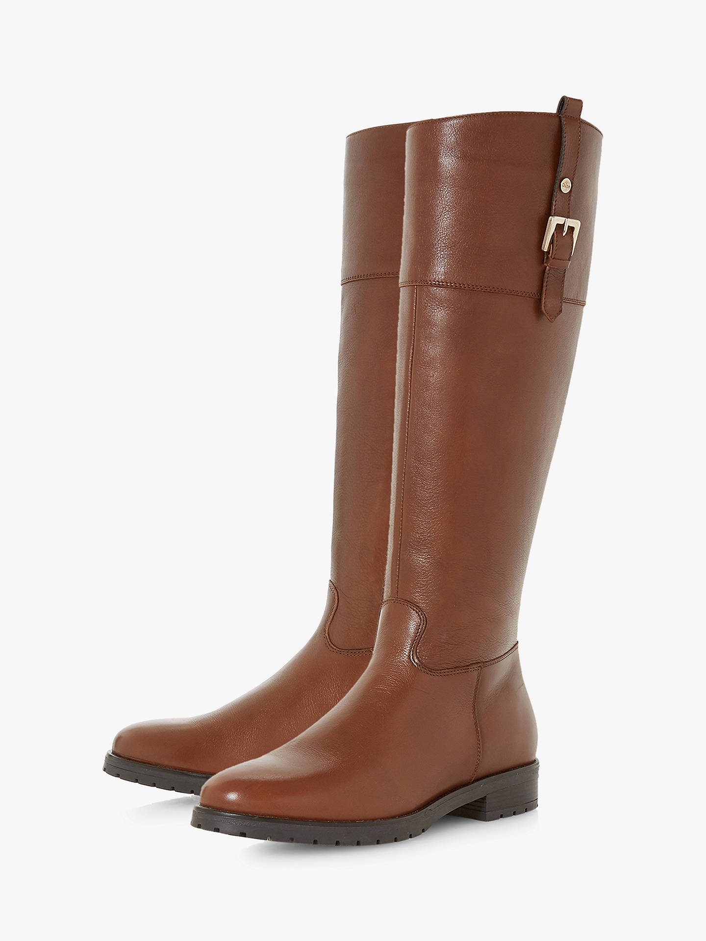 Buy Dune Vinne Knee High Boots, Tan Leather, 5 Online at johnlewis.com