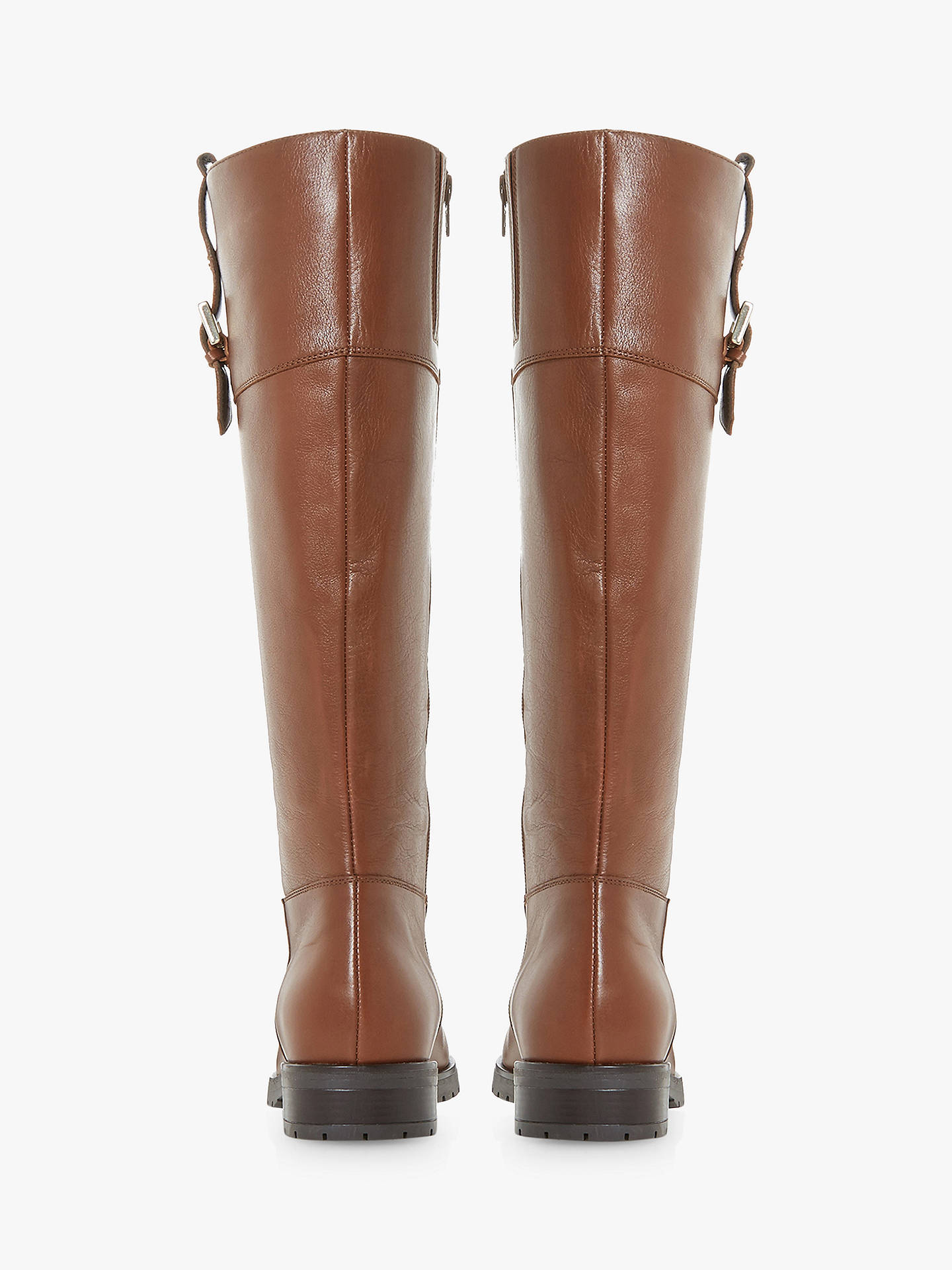 BuyDune Vinne Knee High Boots, Tan Leather, 5 Online at johnlewis.com