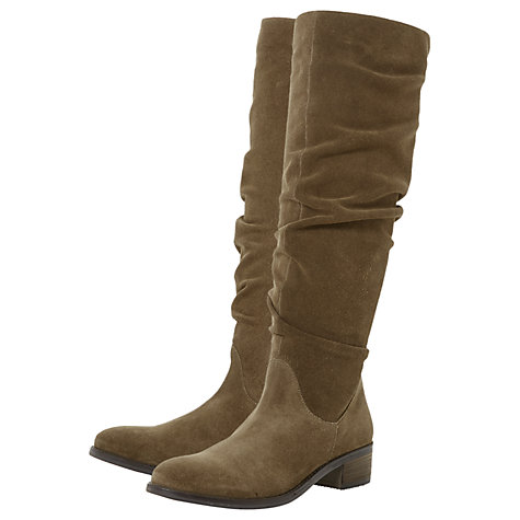 Buy Dune Tabatha Knee High Slouch Boots Online at johnlewis.com