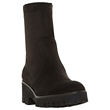 Buy Dune Palmas Flatform Ankle Boots, Black Suede Online at johnlewis.com