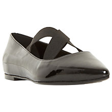 Buy Dune Arrowe Cross Strap Pumps, Black Online at johnlewis.com