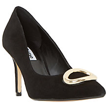 Buy Dune Balmorel Stiletto Heeled Court Shoes, Black Suede Online at johnlewis.com