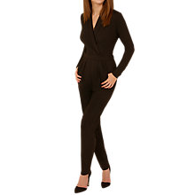 Buy Sugarhill Boutique Josie Wrap Jumpsuit, Black Online at johnlewis.com