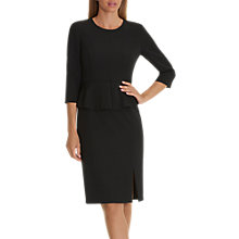 Buy Betty & Co. Crepe Peplum Dress, Black Online at johnlewis.com