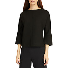 Buy Phase Eight Viola V-Shaped Back Top, Black Online at johnlewis.com
