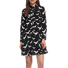 Buy Whistles Crane Print Shirt Dress, Black/White Online at johnlewis.com