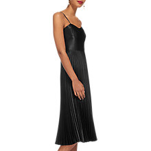 Buy Whistles Satin Pleated Strappy Dress Online at johnlewis.com