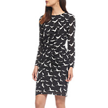 Buy Whistles Maria Crane Silk Blend Dress, Black/White Online at johnlewis.com