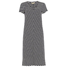 Buy Phase Eight Chantelle Chevron Beach Dress, Navy/Ivory Online at johnlewis.com