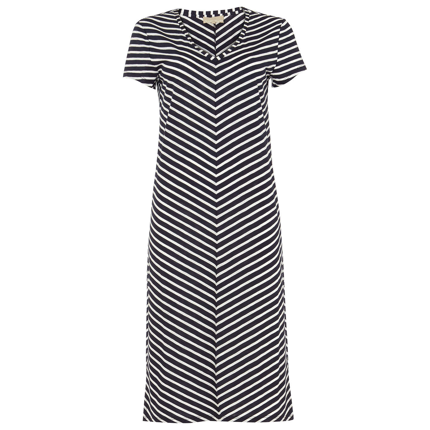 BuyPhase Eight Chantelle Chevron Beach Dress, Navy/Ivory, 8 Online at johnlewis.com