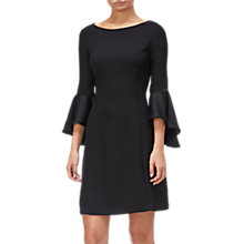 Buy Adrianna Papell Crepe-Back Satin Dress, Black Online at johnlewis.com