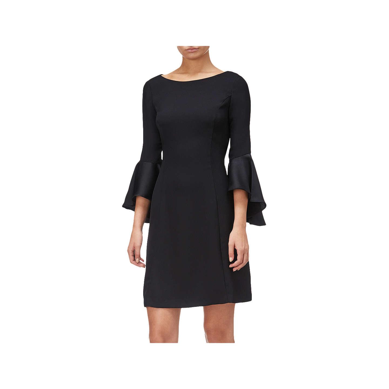 Adrianna Papell Plus Size Crepe Back Satin Dress Black At John Lewis