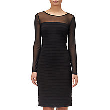 Buy Adrianna Papell Matte Jersey Pintuck Dress, Black Online at johnlewis.com