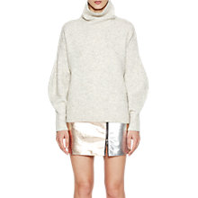 Buy French Connection Urban Flossy High Neck Jumper, Light Oatmeal Melange Online at johnlewis.com