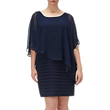 Buy Adrianna Papell Plus Size Banded Dress With Chiffon Overlay, Eclipse Online at johnlewis.com