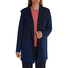 Buy Betty & Co. Long Hooded Cardigan, Classic Blue/Dark Blue Online at johnlewis.com