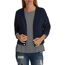 Buy Betty & Co. Textured Blouson Jacket, Dark Sapphire Online at johnlewis.com