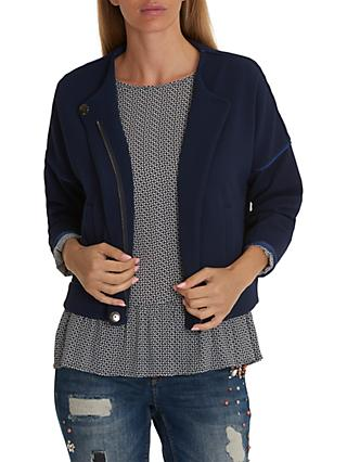 Betty & Co. Textured Blouson Jacket, Dark Sapphire