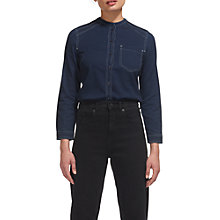 Buy Whistles Stitch Detail Denim Shirt, Dark Denim Online at johnlewis.com