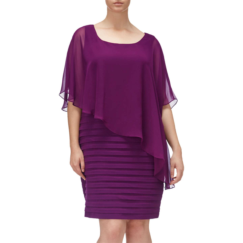 Adrianna Papell Plus Size Chiffon Drape Overlay Banded Dress Winter