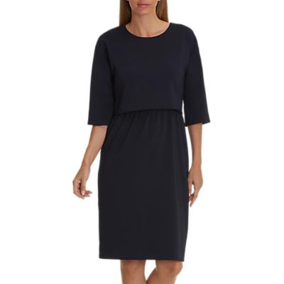 Betty & Co. Crepe Layered Dress, Dark Sapphire