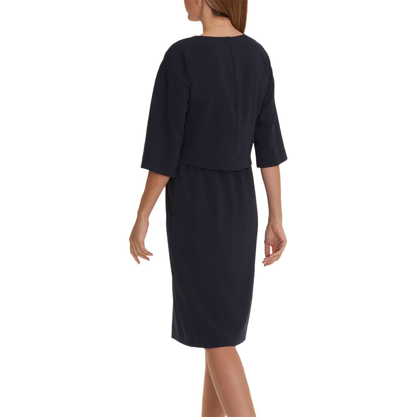 BuyBetty & Co. Crepe Layered Dress, Dark Sapphire, 10 Online at johnlewis.com