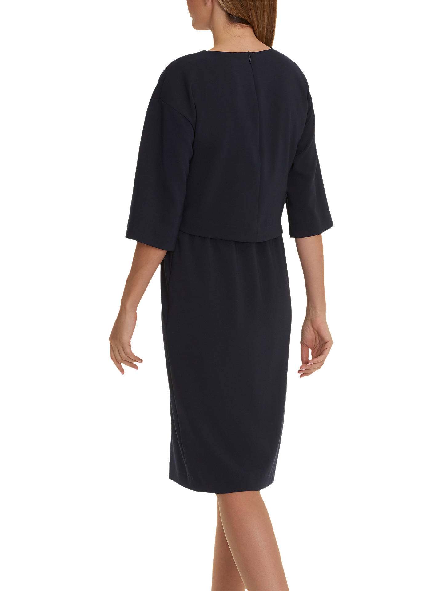 BuyBetty & Co. Crepe Layered Dress, Dark Sapphire, 8 Online at johnlewis.com