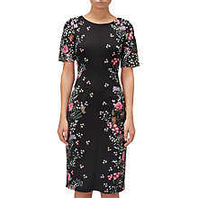 Buy Adrianna Papell Floral Printed Sheath Dress, Black Online at johnlewis.com