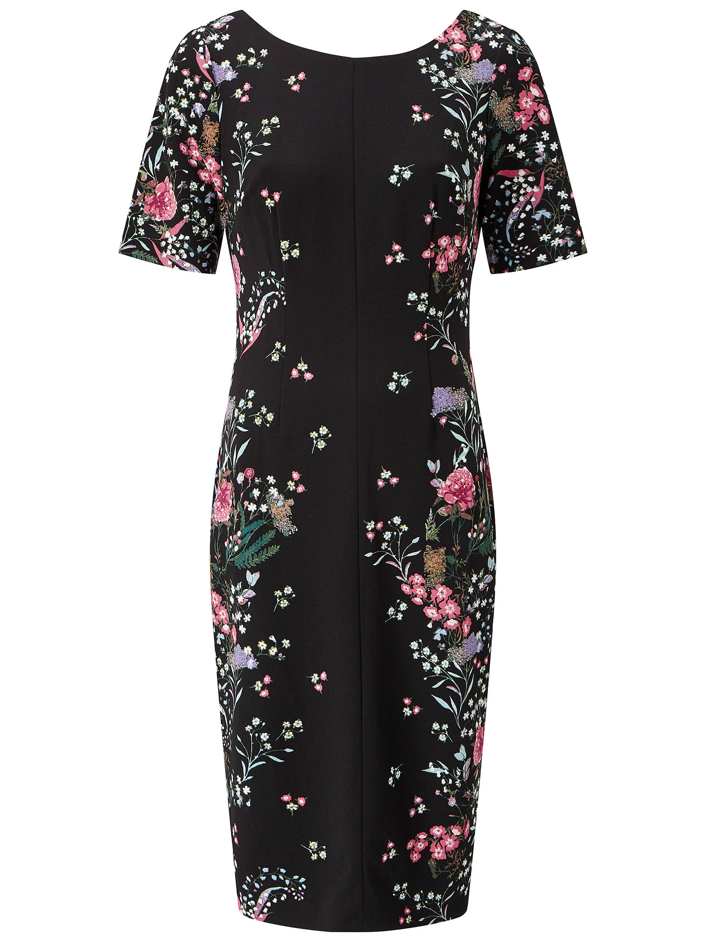 BuyAdrianna Papell Floral Printed Sheath Dress, Black, 8 Online at johnlewis.com