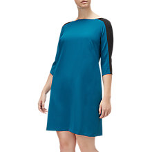 Buy Adrianna Papell Plus Size Crew Neck Crepe Shift Dress, Winter Lagoon Online at johnlewis.com