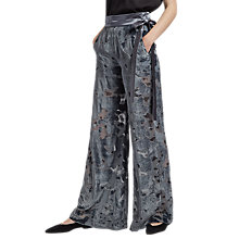 Buy French Connection Brigitte Velvet Flared Trousers, Dark Bonfire Blue Online at johnlewis.com