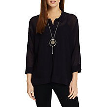 Buy Phase Eight Sharla Boxy Knit Shirt, Navy Online at johnlewis.com
