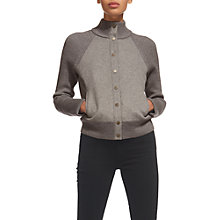 Buy Whistles Boiled Wool Jacket, Grey Marl Online at johnlewis.com
