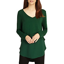 Buy Phase Eight Sabrina Layered Top, Clover Green Online at johnlewis.com