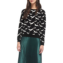 Buy Whistles Crane Jacquard Jumper, Multi Online at johnlewis.com