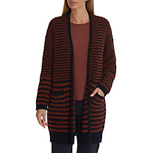 Buy Betty & Co. Long Textured Cardigan, Dark Blue/Brown Online at johnlewis.com