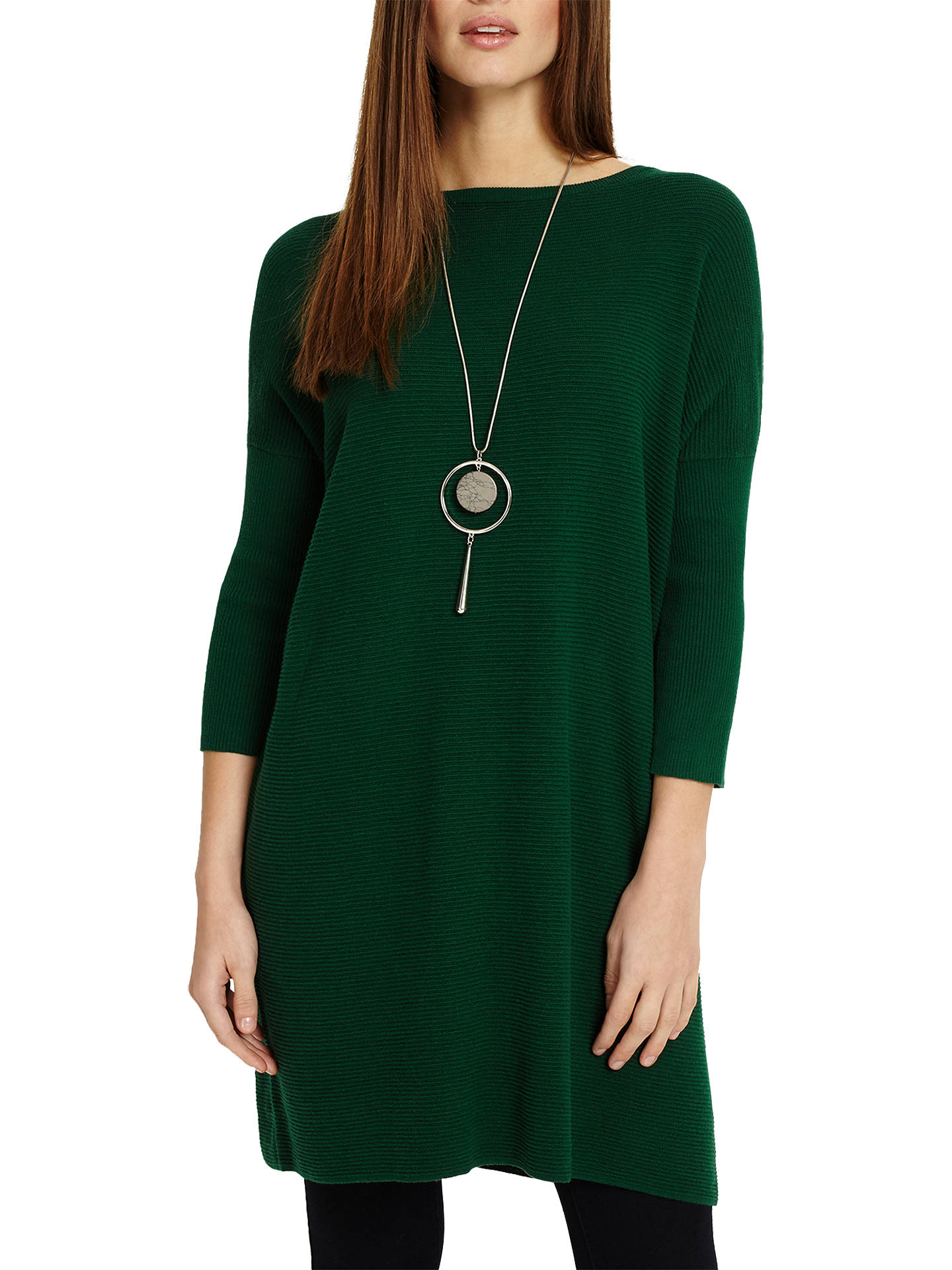 2d9531422d0d7b Buy Phase Eight Tiberia Ripple Stitch Tunic Dress, Clover Green, S Online  at johnlewis ...