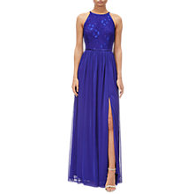 Buy Adrianna Papell Lace Bodice Long Dress, Neptune Online at johnlewis.com