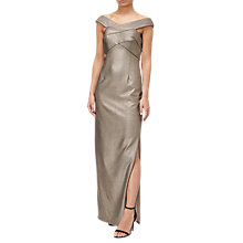 Buy Adrianna Papell Metallic Ottoman Dress, Rose Gold Online at johnlewis.com