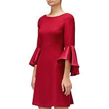 Buy Adrianna Papell Crepe-Back Satin Dress, Matador Red Online at johnlewis.com