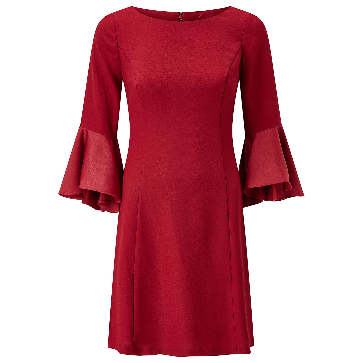 BuyAdrianna Papell Crepe-Back Satin Dress, Matador Red, 8 Online at johnlewis.com