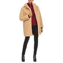 Buy Whistles Ultimate Teddy Coat, Neutral Online at johnlewis.com