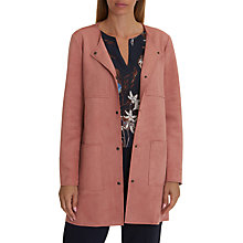 Buy Betty & Co. Faux Suede Jacket, Pink Candy Online at johnlewis.com
